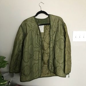 Urban Outfitters Army Green Puffy Coat